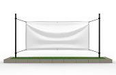 White Vinyl Horizontal Banner.