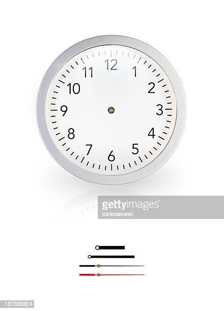 White wall clock without pointers