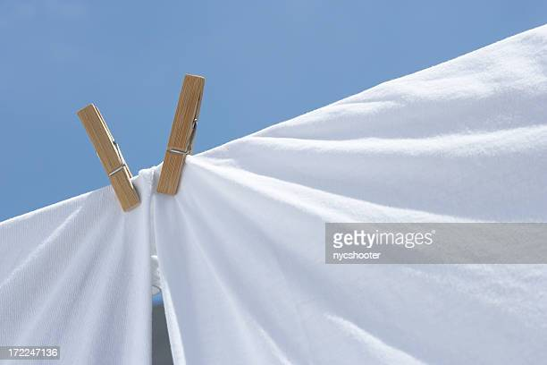 White wash on clothesline