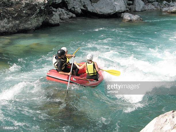 White water rafting on a river