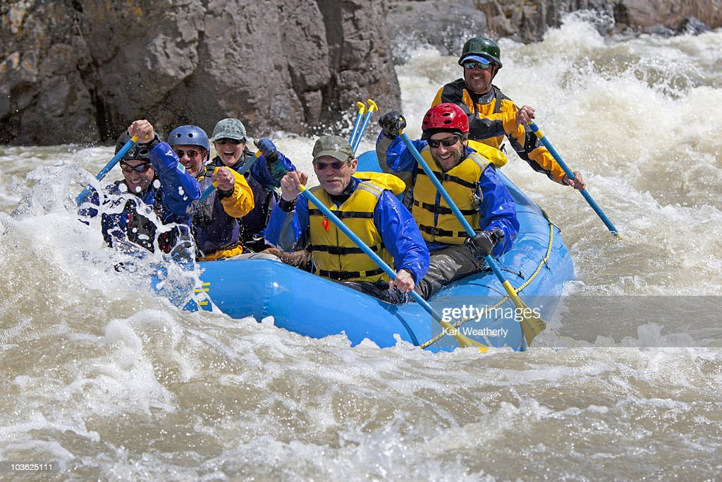 White water rafting on the Owyhee River : Stock Photo