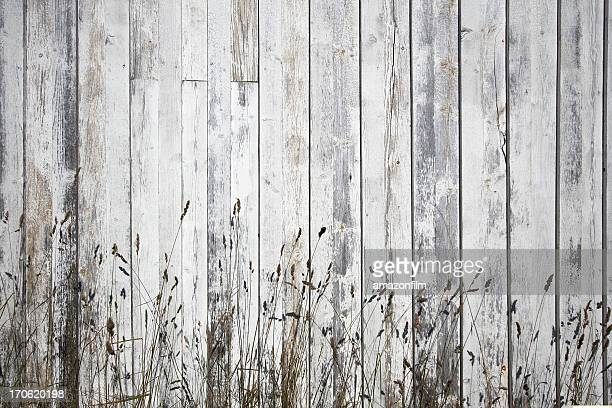White weathered planks with stray background