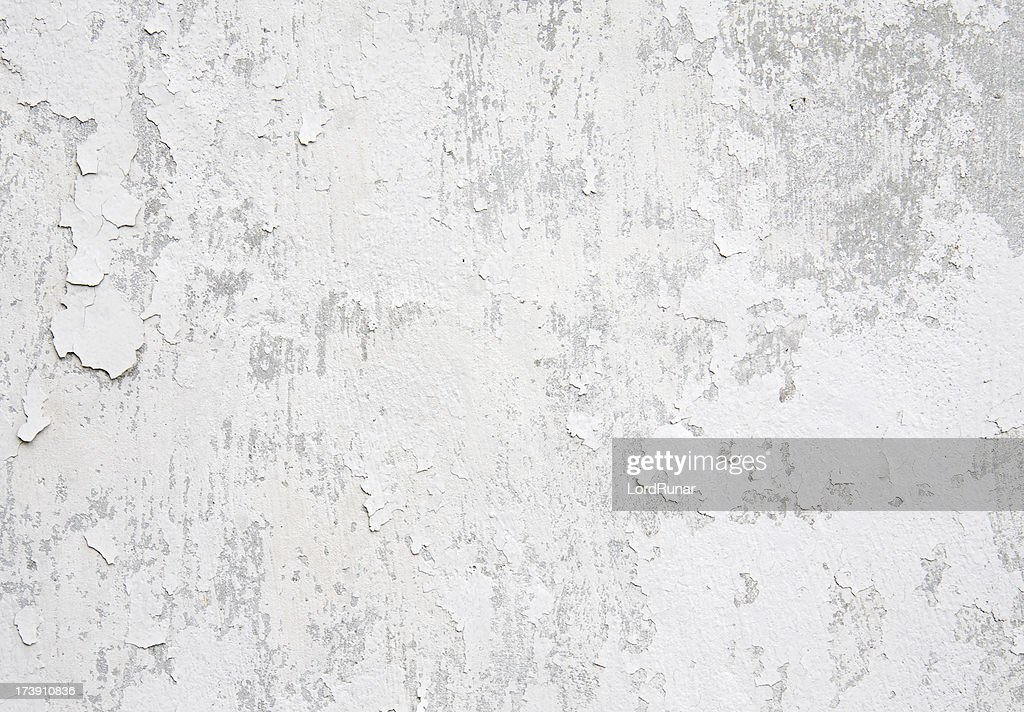 White weathered wall