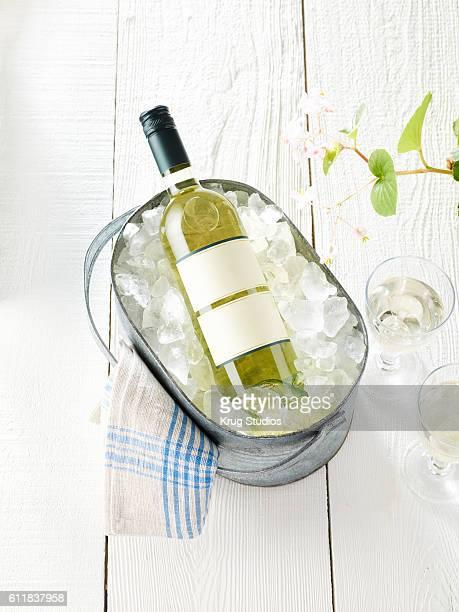 White Wine Bottle in Ice Bucket