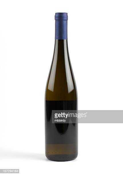 White wine bottle (clipping path), isolated