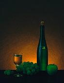 White wine still life