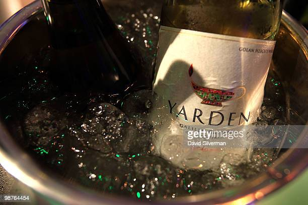 White wines are kept chilled at the Yarden Vintage 2010 International Wine and Gourmet Festival on April 29 2010 at the Golan Heights Winery in the...