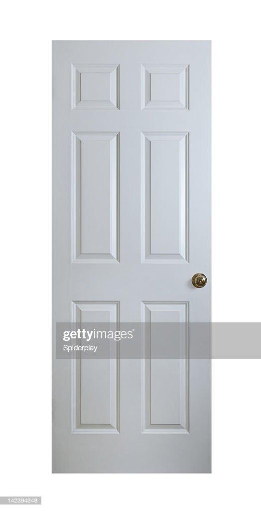 Porte en bois blanc avec un Tracé de détourage : Photo