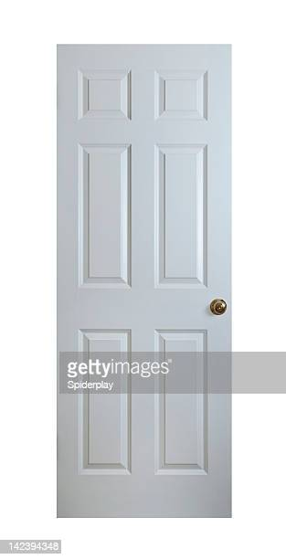 White Wood Door With Clipping Path