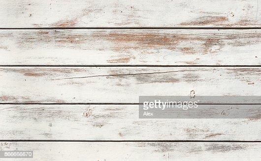 White wood texture : Stock Photo