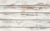 White wooden planks background.