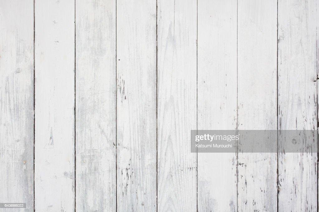 White wood textures background : Stock Photo