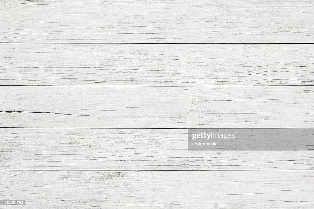 White wooden board background : Stock Photo