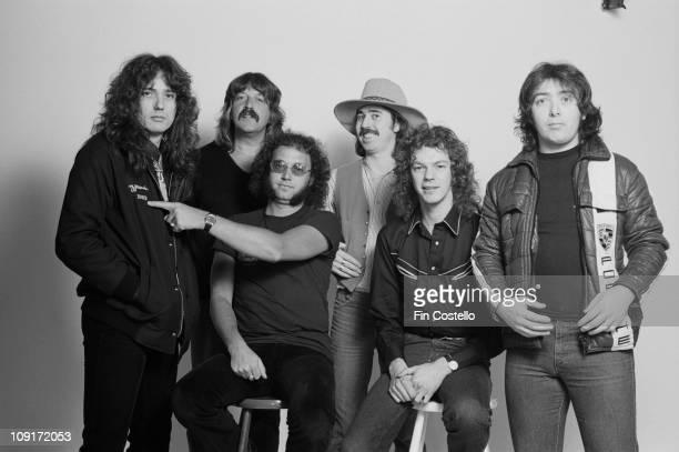 Whitesnake posed in London in February 1981 LR David Coverdale Jon Lord Ian Paice Micky Moody Neil Murray Bernie Marsden