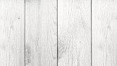 Whitewashed Wood Texture Background, Horizontal