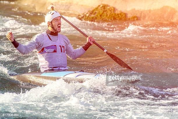 Whitewater kayaking winner