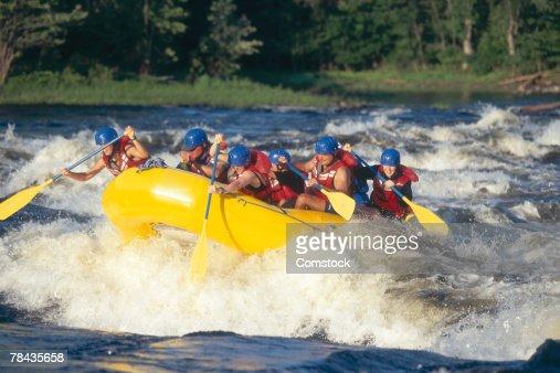 Whitewater rafting on the Ottawa River , Ottawa , Canada : Stock Photo