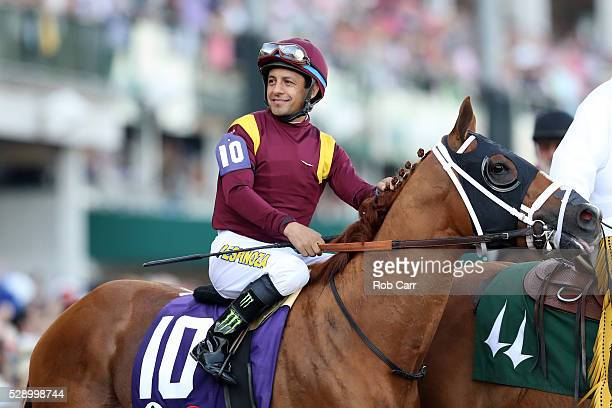 Whitmore ridden by Victor Espinoza walks on track prior to the 142nd running of the Kentucky Derby at Churchill Downs on May 07 2016 in Louisville...