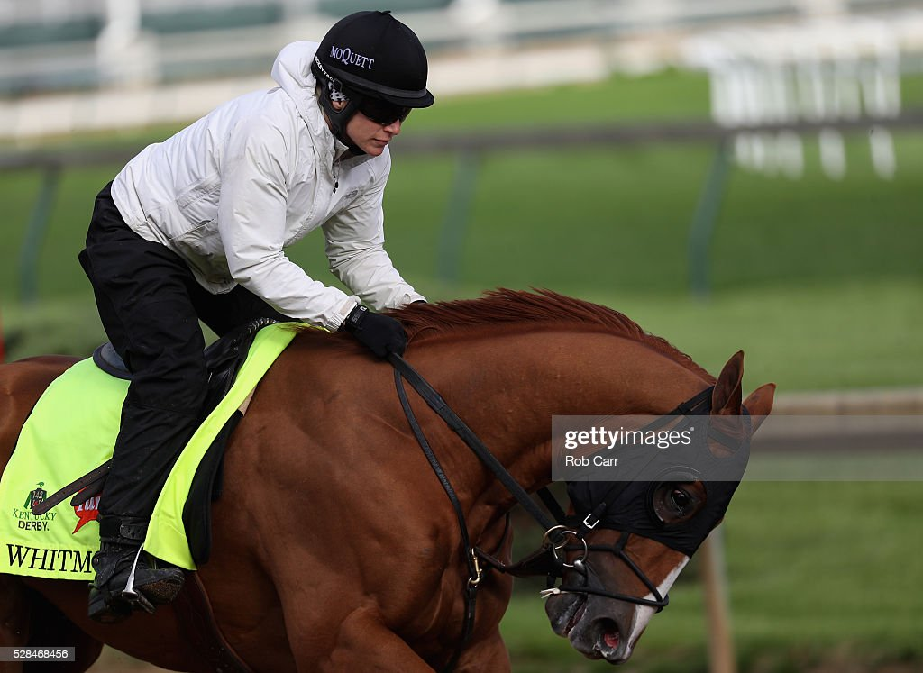 Whitmore trains on the track for the Kentucky Derby at Churchill Downs on May 05, 2016 in Louisville, Kentucky.