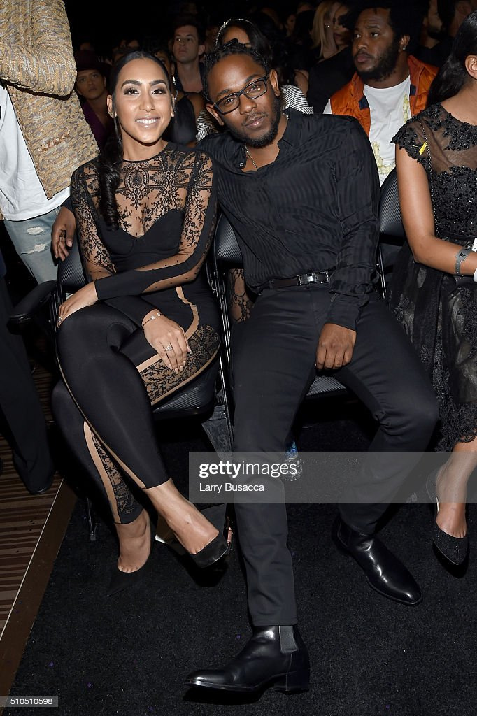 Whitney Alford (L) and rapper Kendrick Lamar attend The 58th GRAMMY Awards at Staples Center on February 15, 2016 in Los Angeles, California.