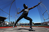 Whitney Ashley throws during the Women's Discus Throw Final during the 2016 US Olympic Track Field Team Trials at Hayward Field on July 2 2016 in...