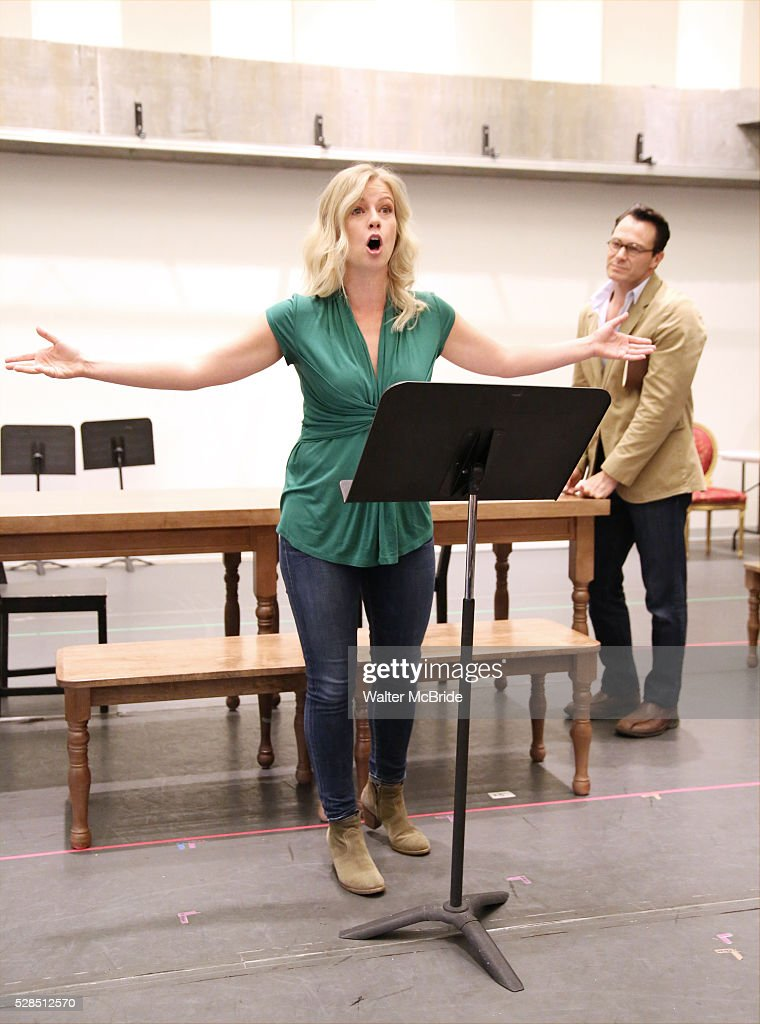Whitney Bashor and Matt Bogart during the 'Himself and Nora The Musical' - Press Preview at the Signature Theatre Rehearsal Studios on May 5, 2016 in New York City.