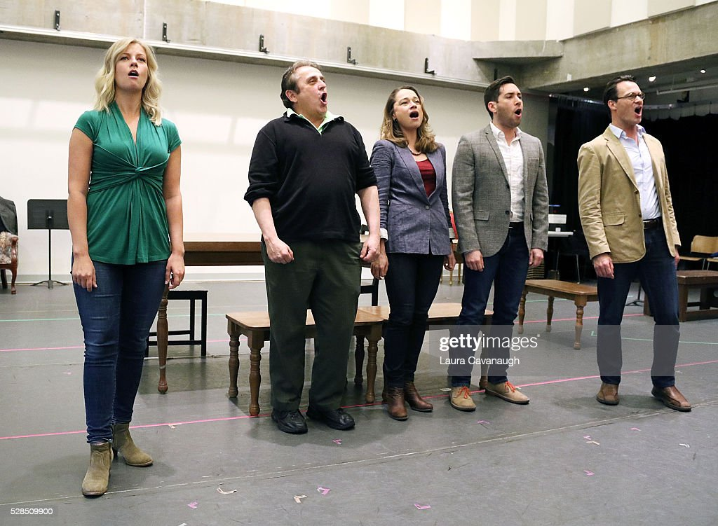 Whitney Bashor, Michael McCormick, Lianne Marie Dobbs, Zachary Prince and Matt Bogart attend meet the Company of 'Himself and Nora The Musical' at Signature Theater Rehearsal Studios on May 5, 2016 in New York City.