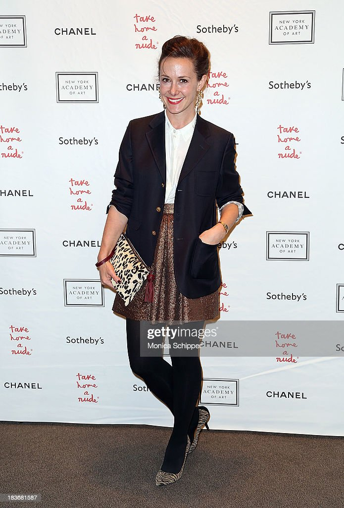 Whitney Brosnahan attends 2013 'Take Home A Nude' Benefit Art Auction And Party at Sotheby's on October 8, 2013 in New York City.