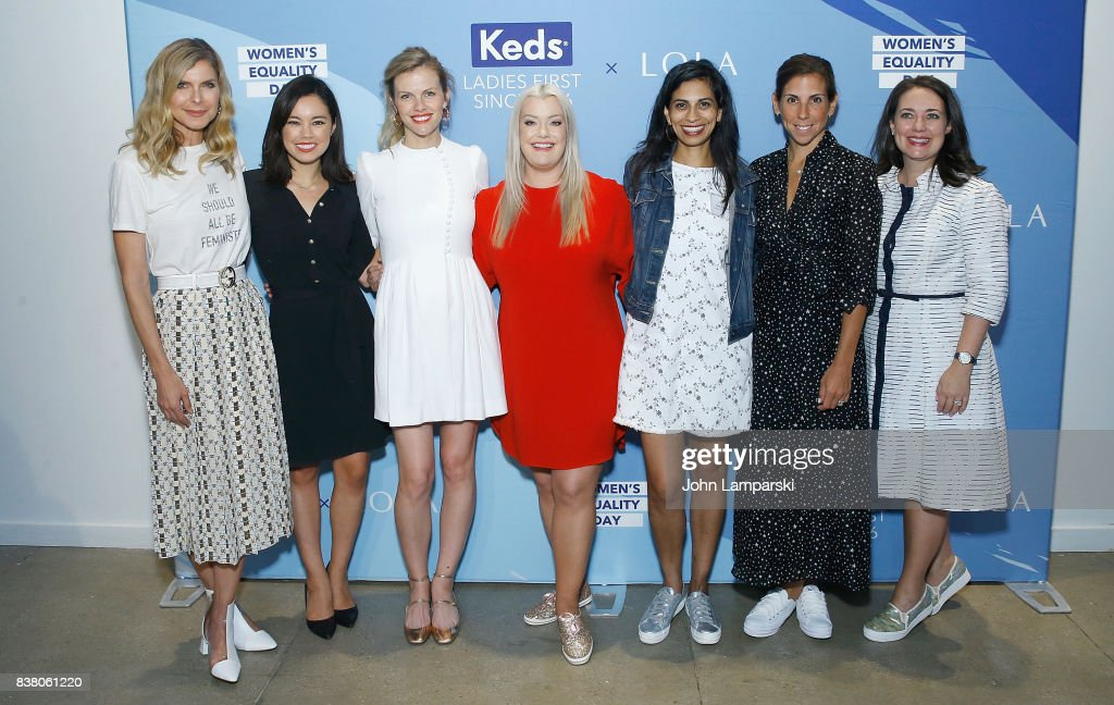 Whitney Casey, Jo Ling Kent, Brooklyn Decker, Jamie Kern Lima, Anu Duggal, Melanie Whalen and Sarah Kauss attend Champion Equality. Make It Your Business Panel in celebration of Women's Equality Day at Neuehouse on August 23, 2017 in New York City.