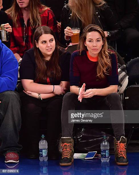 Whitney Cummings and guest attend Chicago Bulls Vs New York Knicks game at Madison Square Garden on January 12 2017 in New York City