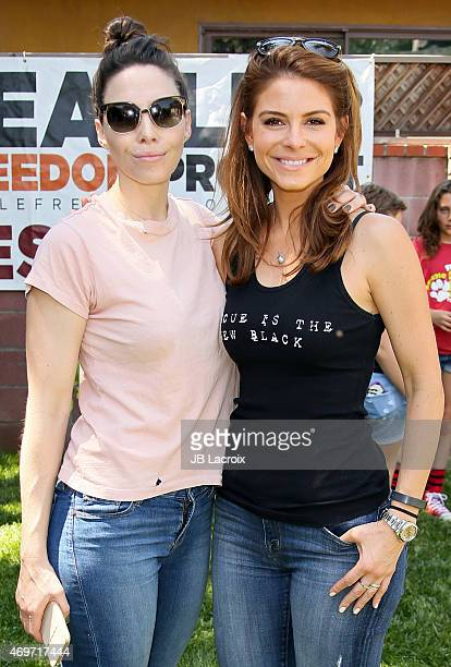 Whitney Cummings and Maria Menounos attend the Beagle Freedom Project on April 14 2015 in Valley Village California