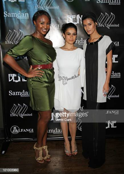 Whitney Cunningham Designer Besne and model Jaslene Gonzalez attend the Besne collection launch party at ARENA Event Space on May 26 2010 in New York...