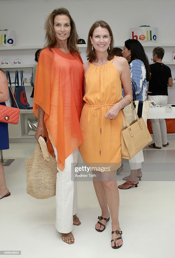 Whitney Fairchild (L) and Laurie Marsden attend Hamptons Magazine celebrates The New Lisa Perry store on June 14, 2014 in East Hampton, New York.