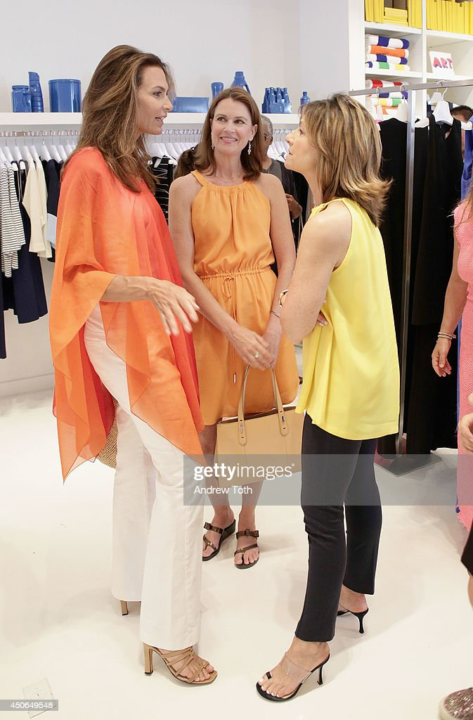Whitney Fairchild designer Lisa Perry and Laurie Marsden attend Hamptons Magazine celebrates The New Lisa Perry store on June 14 2014 in East Hampton...