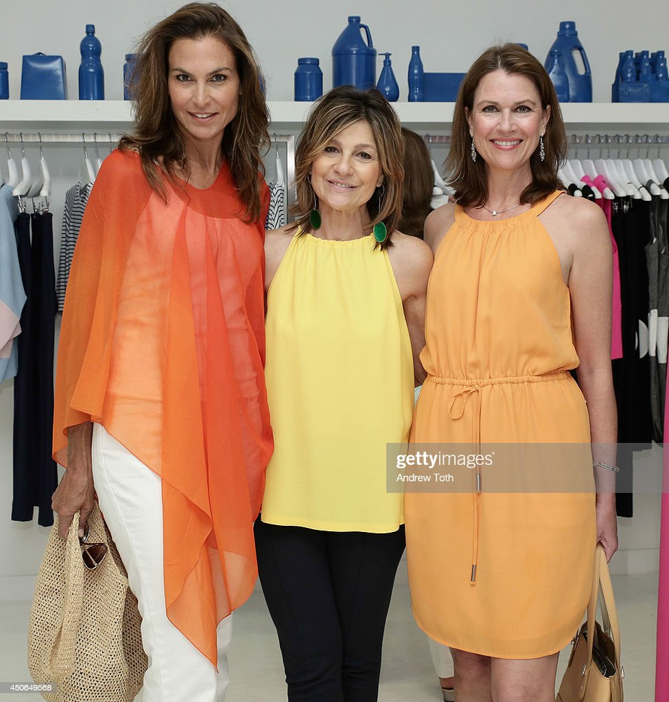 Whitney Fairchild, designer Lisa Perry and Laurie Marsden attend Hamptons Magazine celebrates The New Lisa Perry store on June 14, 2014 in East Hampton, New York.