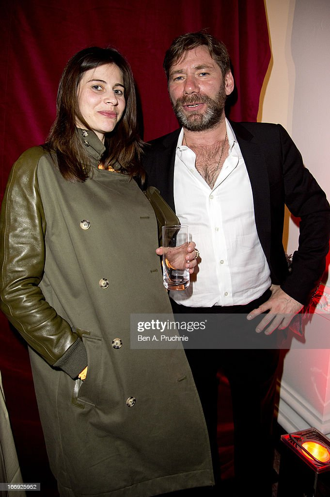 Whitney Hince and Mat Collishaw attend a private View and VE-Day Party For Calder After The War at Pace London Gallery on April 18, 2013 in London, England.