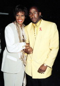 Whitney Houston and Bobby Brown during 1993 MTV Movie Awards at Sony Studios in Culver City California United States