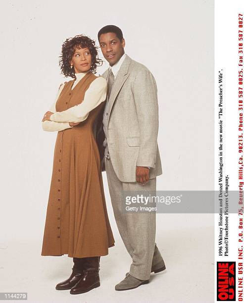 Whitney Houston and Denzel Washington in the new movie 'The Preachers Wife'