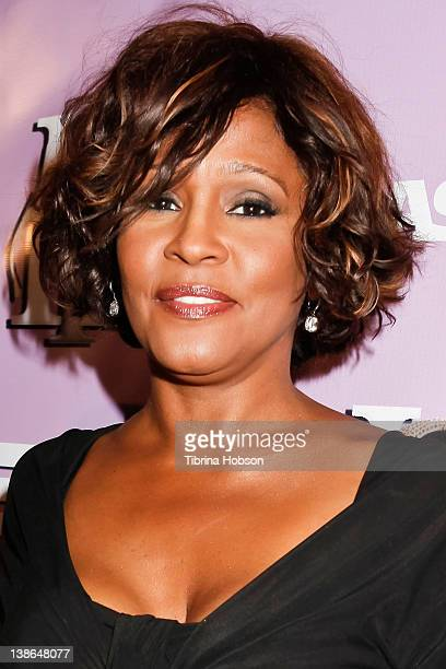 Whitney Houston arrives to the The love of RB Grammy Party at Tru Hollywood on February 9 2012 in Hollywood California