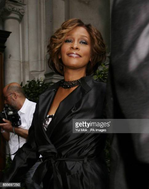 Whitney Houston arriving for a media playback of her new album at the Mandarin Oriental Hotel in Knightsbridge west London