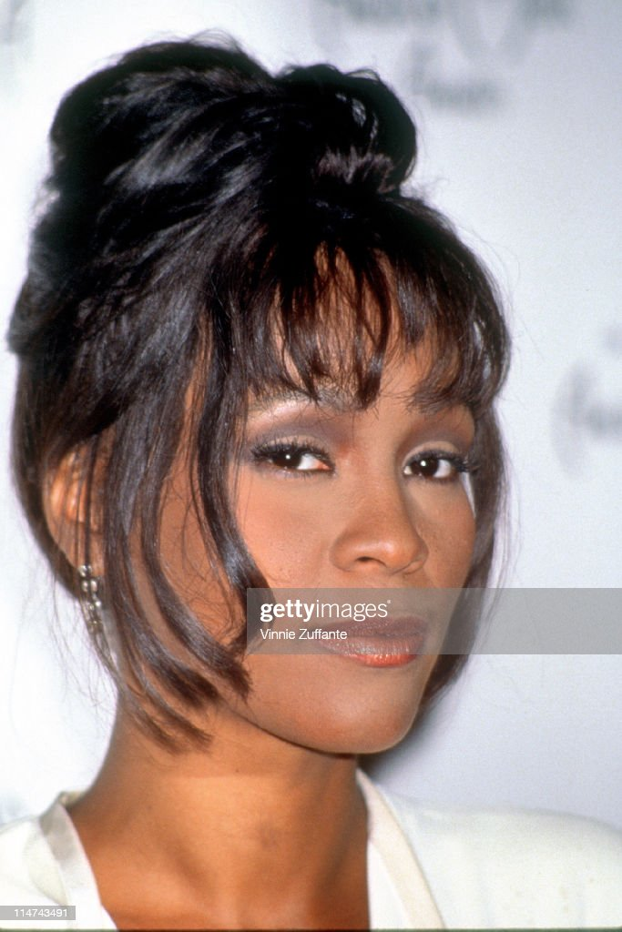 Whitney Houston attending the American Music Awards