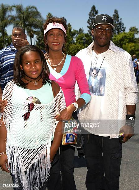 Whitney Houston Bobby Brown and their daughter Bobbi Kristina