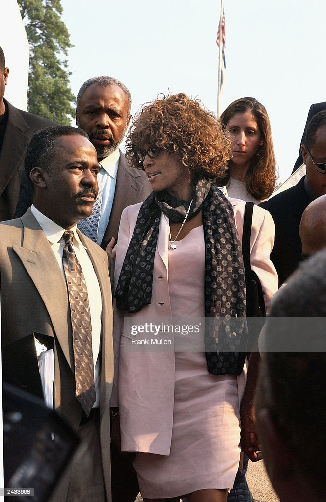 DECATUR, GEORGIA, AUGUST 27 - Whitney Houston leaves the DeKalb County Courthouse after a probation violation hearing for her husband, Bobby Brown. Brown was sentenced to 14 days in jail followed by 60 days of house arrest for violating conditions of his probation, stemming from 1996 DUI charges.
