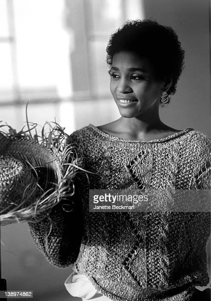 Whitney Houston modeling for Mademoiselle Magazine New York City December 1983