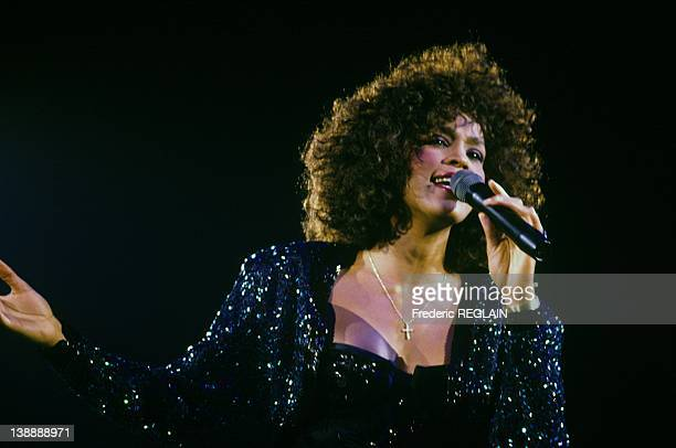 Whitney Houston performing in Paris on May 18 1988 in Paris France