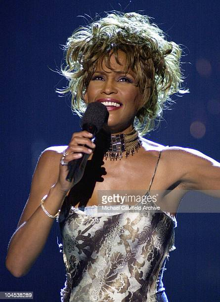 Whitney Houston performs during the 1st Annual BET Awards June 19 2001 at the Paris Hotel and Casino in Las Vegas