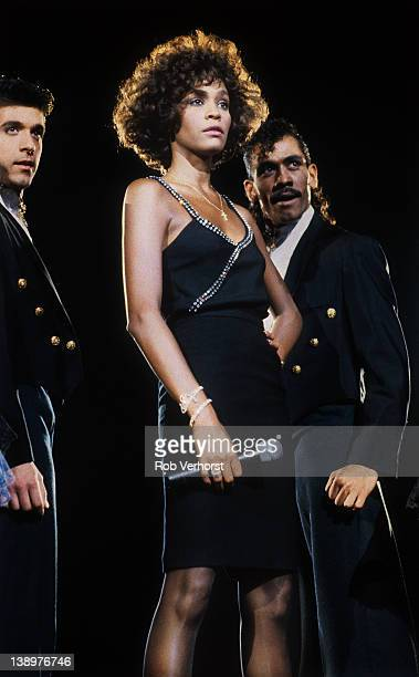Whitney Houston performs on stage Ahoy Rotterdam Netherlands 23rd April 1988
