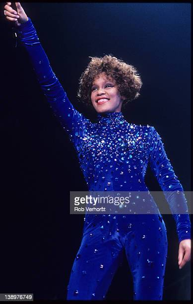 Whitney Houston performs on stage Ahoy Rotterdam Netherlands 25th September 1991
