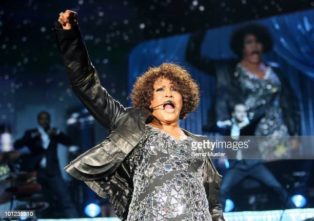 Whitney Houston performs on stage at Arena Nurnberger on May 27 2010 in Nuremberg Germany