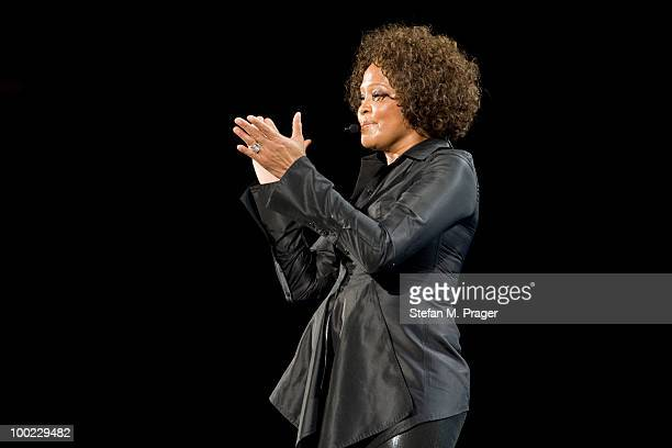 Whitney Houston performs on stage at Olympiahalle on May 21 2010 in Munich Germany